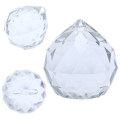 £6.79 • Buy 50mm Feng Shui Hanging Crystal 50mm Clear Ball Sphere Prism Faceted Sun Catcher