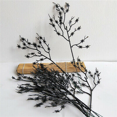 £3.12 • Buy Halloween Fake Tree Branch Black Plastic Spider Holiday Party Home Decor Crafts