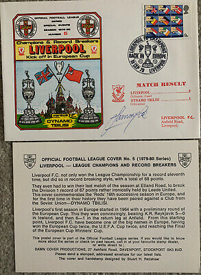£8.95 • Buy Liverpool V Dynamo Tbilisi 1979 First Day Cover Signed By Sammy Lee