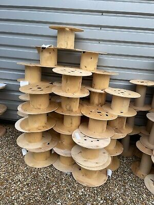 £5 • Buy Wooden Cable Drum Height 26 Cm Width 50 Cm Project Table Garden Use And More