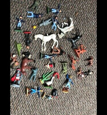 £5 • Buy Spares Or Repair 1970s Joblot TIMPO Airfix ? COWBOYS INDIAN SOLDIERS HORSEBACK.