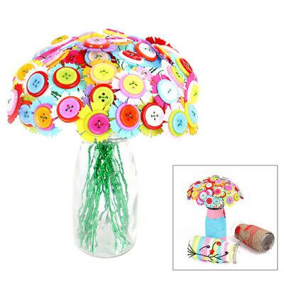£6.49 • Buy 1 Set Of Button Bouquet Early Learning DIY Material Package For Toddlers