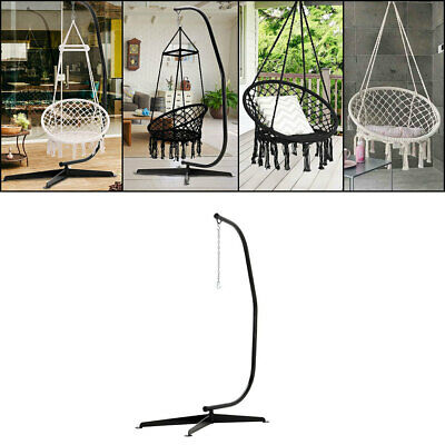 £29.95 • Buy Hanging Macrame Hammock Chair Cotton Woven Rope Swing Chair Stand Seat Set Multi