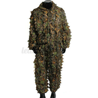 £14.09 • Buy Camping Camouflage Suit Ghillie Leaf 3D Jungle Forest Hunting Clothes Set Forest
