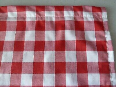 £12.50 • Buy Red And White 1  Gingham Check Poly Cotton Single Cupboard Curtain 35  X 42