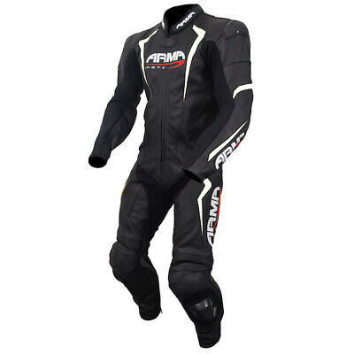 £199.99 • Buy Armr Harada S 1 Piece Leather Race Sports Motorcycle Suit - Black / White