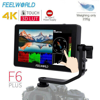 AU208.75 • Buy FEELWORLD F6 Plus 5.5 Inch HDR 3D Lut DSLR On Camera Field Touch Screen Monitor