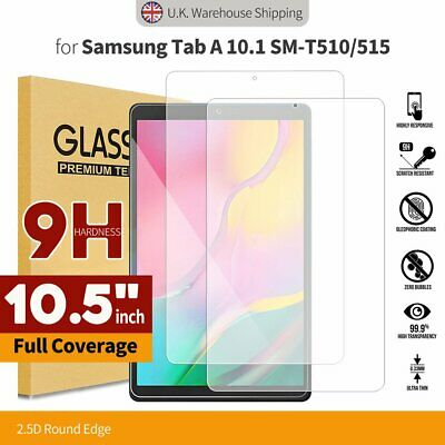 £2.99 • Buy Tempered Glass Screen Protector For Samsung Galaxy T510 T515 Tab A 10.1 2019