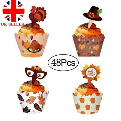 £2.58 • Buy 48pcs Halloween Decorations Cupcake Wrappers Case Cake Decorating Halloween