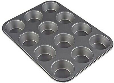 £7.99 • Buy 12 Cups Muffin Tray, Non-Stick Carbon Steel Muffin Cupcake Tin For Muffins