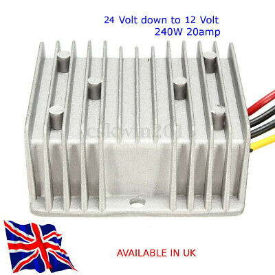 £20.99 • Buy Voltage Converter, 24V Step Down To 12V 20A 240W - TRUCK - MOTORHOME Avail In UK