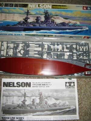 £12.95 • Buy  HMS NELSON; Vintage; Unmade Model Ship; TAMIYA;  1/700 Scale Water Line Series