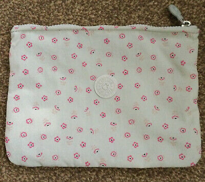 £7.99 • Buy RARE Kipling Off White With Pink Flowers Pouch Bag Brand New Unused
