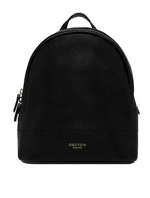 AU115.99 • Buy Oroton  Leather Avalon  Backpack Hand Bag BNWT Black Rosegold Small RRP $395