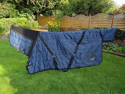 £20 • Buy Masta Combo Indoor Stable Horse Rug Blue 6ft 9ins Good Condition Heavyweight