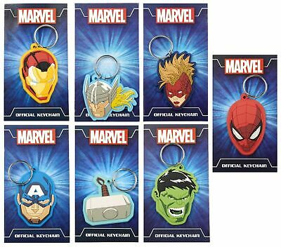 £2.60 • Buy Assorted Marvel Avengers Silicone 2D Keyrings - Kids, Boys Rubber Keychain New