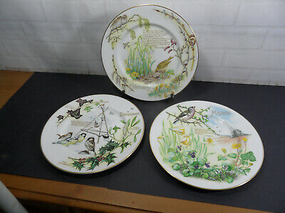 £7.99 • Buy 3 X Collector Plates By Caverswall - Diary Of A Edwardian Lady Edith Holden
