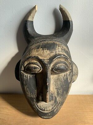 £12.45 • Buy Tribal Decorative Scary Carved Wood Mask