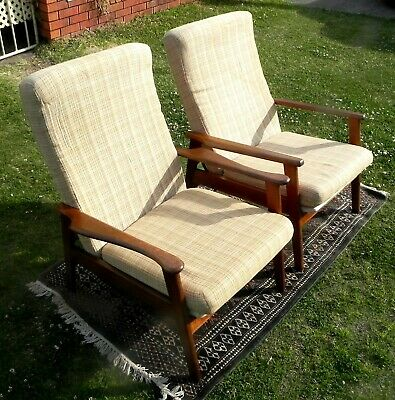 AU475 • Buy Mid Century Modern Pair Of Reclining TV Arm Chairs