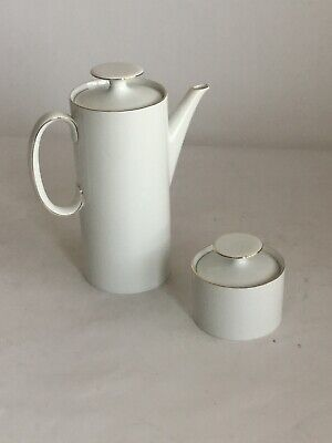£12 • Buy Thomas Thin Gold Rim Coffee Pot And Sugar Bowl. In Good Condition