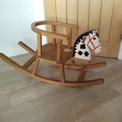 £28 • Buy Vintage Mid Century Baby Childs Rocking Horse Chair / Seat 1960s. Nursery.