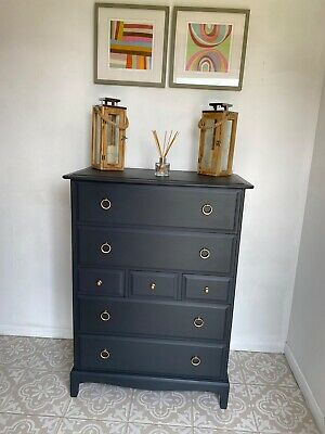 £225 • Buy Stag Minstrel Mahogany Tall Chest Of 7 Drawers In Great Condition
