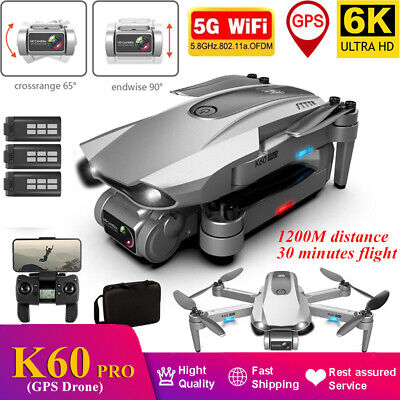 AU211.74 • Buy Pro 6K HD Dual Camera Drone GPS 5G WiFi FPV RC Quadcopter Brushless Helicopter
