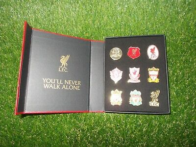 £20 • Buy Liverpool LFC Crested 9pc Boxed Pin Badge Set