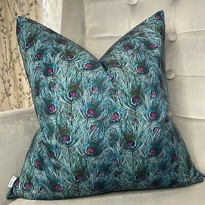 £10.99 • Buy Decorative Cushion Cover John Lewis PEACOCK Fabric 100% Cotton Feather Print