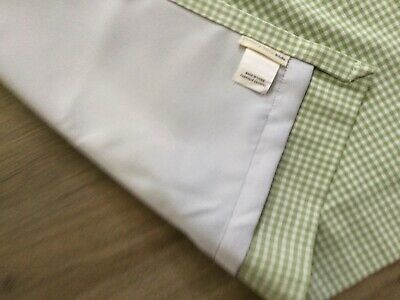 £14.52 • Buy POTTERY BARN Green White Gingham Check Curtain Panels (2) 44 X 63,Blackout Nice