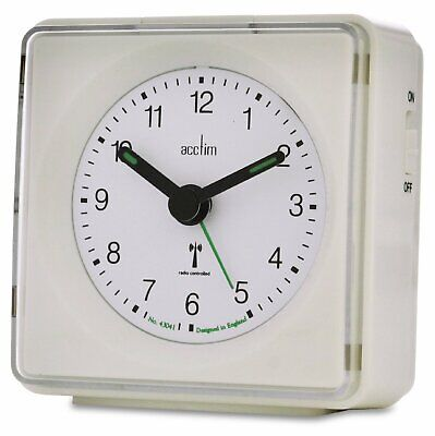 £9 • Buy  Acctim  Piper  Radio Controlled Alarm Clock In White(our Ref 5r)