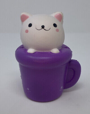 AU13.30 • Buy Cute Kitty In A Mug Slow Rising Squeeze Stress Reliever Toy Gift