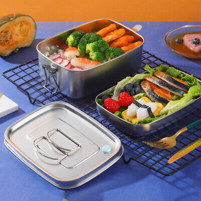 AU18.99 • Buy Double Layer Stainless Steel Lunch Box 1.1/1.5L Thermal Sealed Divided Bento Box