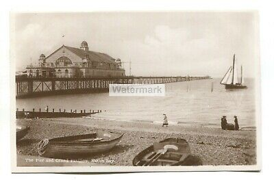 £1.99 • Buy Herne Bay - Pier And Grand Pavilion - View From Beach - Old Real Photo Postcard