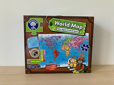 £12.50 • Buy Orchard Toys World Map Jigsaw Puzzle And Poster 150 Pieces
