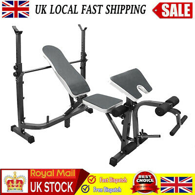 £99.99 • Buy Multi Adjustable Olympic Weight Bench Press With Squat Rack Home Gym Workout New
