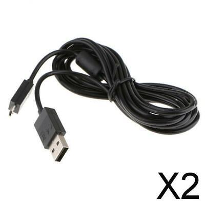 AU15.89 • Buy 2X 2m Micro USB Charger Charging Cable Data Cord For Xbox  /PS4 Controller