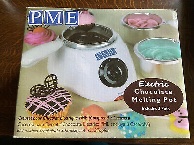 £19 • Buy PME Electric Chocolate Melting Pot With 3 Pots Included, White, Brand New