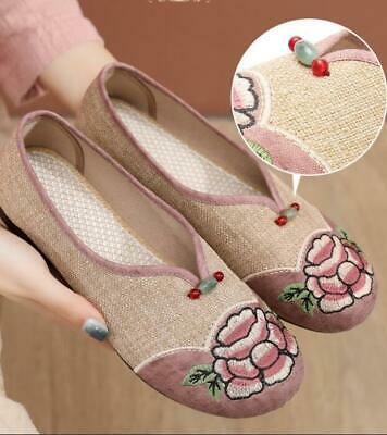 £15.62 • Buy Women's Chinese Casual Non Slip Hanfu Shoes Ethnic Style Flat Embroidered Shoes