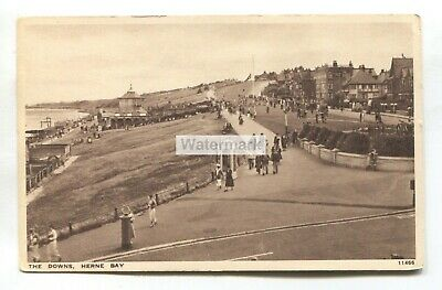 £1.99 • Buy Herne Bay - The Downs And Vintage Telephone Box - Old Kent Postcard