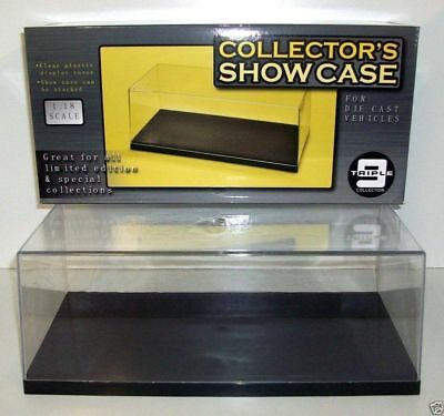 £45.45 • Buy Triple 9 Plastic Display / Collectors Show Case For 1/18 Scale Models -Stackable