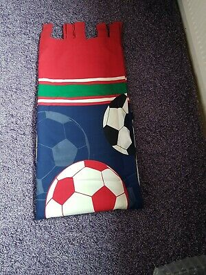 £2.50 • Buy Tab Top Football Themed Curtains 54 Inch Drop Width 64 Inch