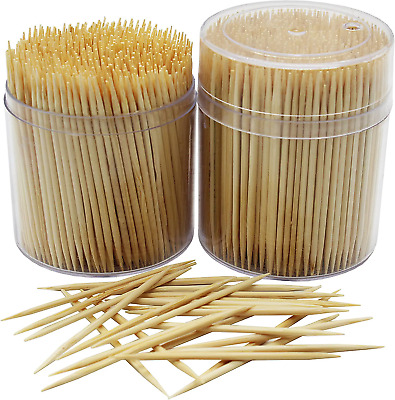 £7.55 • Buy MontoPack Bamboo Wooden Toothpicks |1000-Piece Large Wood Round Toothpicks In |