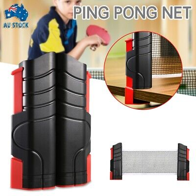 AU12.49 • Buy New Portable Retractable Table Tennis Ping Pong Net Kit Games Replacement Set