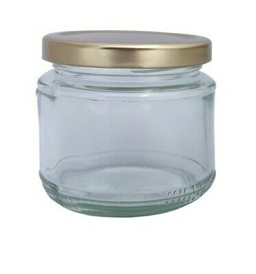 £10.95 • Buy Jam Chutney Pickling Preserving Glass Squat Jars 200ml With A Variety Of Lids