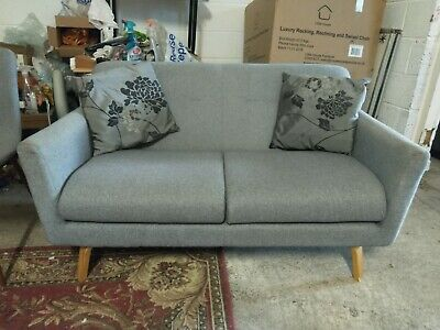 £149 • Buy John Lewis Archie Sofa Settee Grey Fabric Delivery Poss