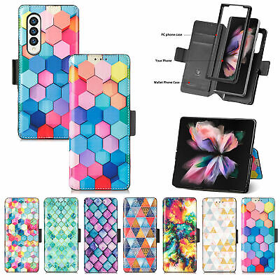 AU17.99 • Buy For Samsung Galaxy Z Fold 3 5G Luxury Flip Leather Wallet Magnetic Case Cover