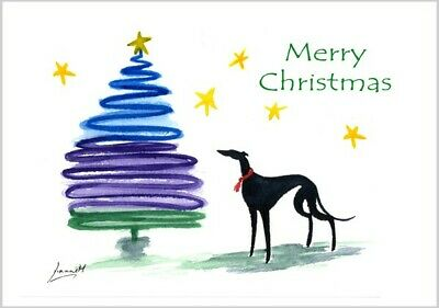 £3.40 • Buy 6235 Dianne Heap Christmas Card Greyhound Whippet Lurcher Dogs Painting Art Xmas
