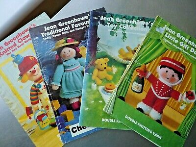 £3.99 • Buy 12]4 Jean Greenhowe Knitted Character Booklets, Gift Dolls Toys Trad Favs Clowns
