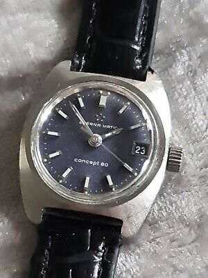£75 • Buy Ladies Vintage Stainless Steel ETERNA MATIC CONCEPT 80 Automatic Wristwatch